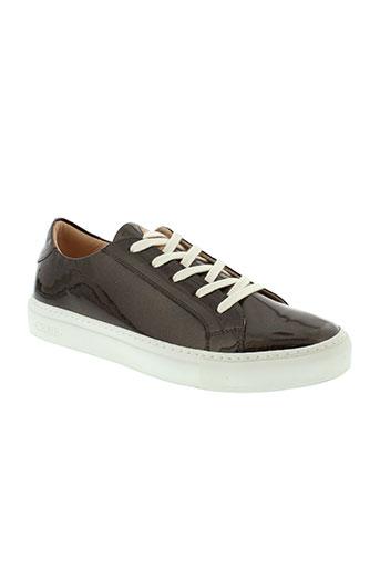 craie chaussures femme de couleur marron