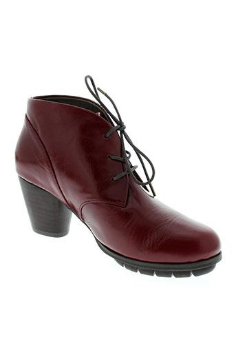 esska boots femme de couleur rouge