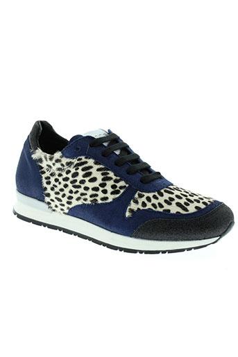 meline chaussures femme de couleur bleu