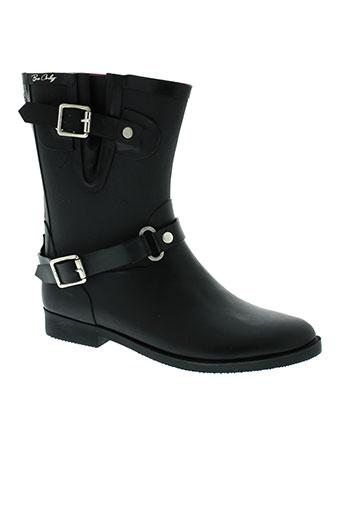 be et only boots femme de couleur noir