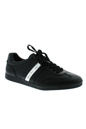 calvin et klein baskets homme de couleur noir