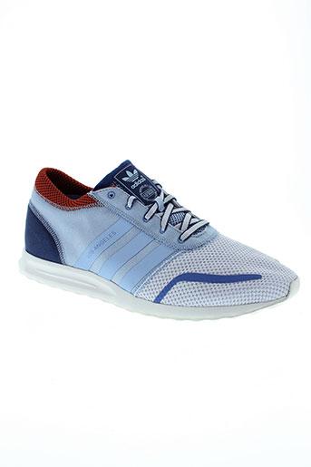 adidas baskets homme de couleur bleu