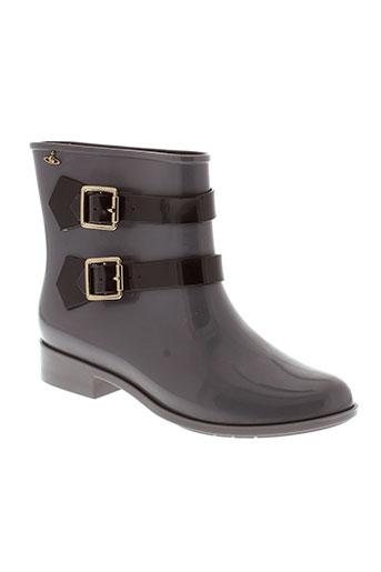 melissa + vivienne westwood chaussures femme de couleur gris