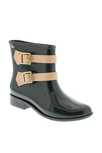 melissa + vivienne westwood chaussures femme de couleur noir