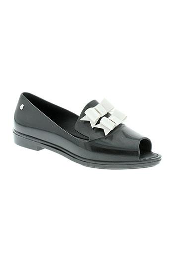 melissa sandales et nu et pieds femme de couleur noir