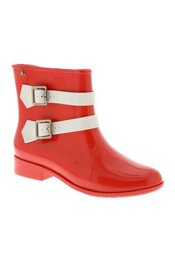 melissa et vivienne et westwood boots femme de couleur rouge