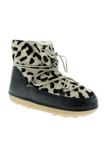 anniel boots fille de couleur noir