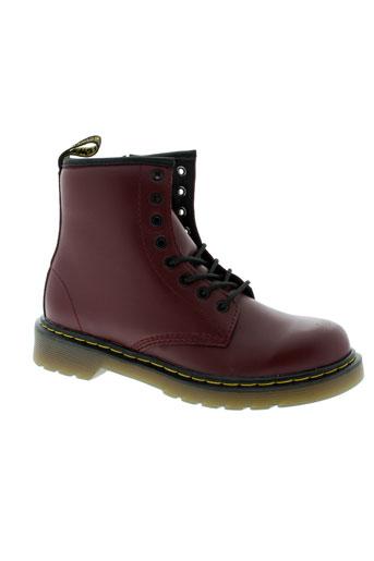 dr et martens boots fille de couleur rouge