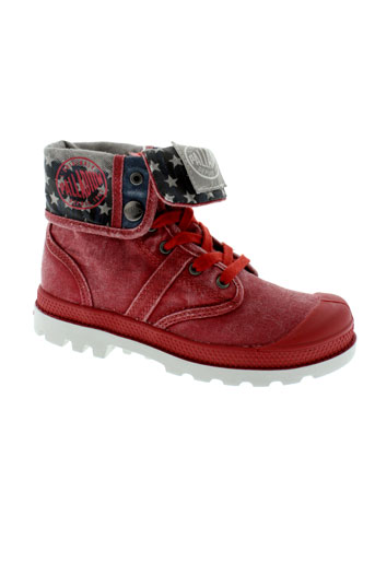 palladium boots fille de couleur rouge