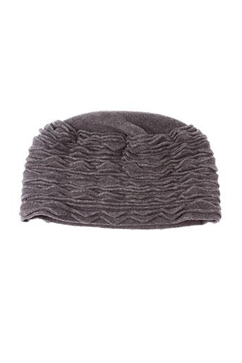 angiolo et frasconi chapeaux et bonnets femme de couleur gris