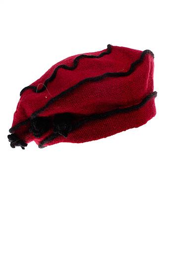 angiolo et frasconi chapeaux et bonnets femme de couleur rouge