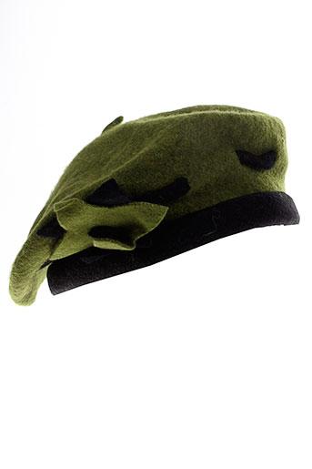 camalya chapeaux et bonnets femme de couleur vert