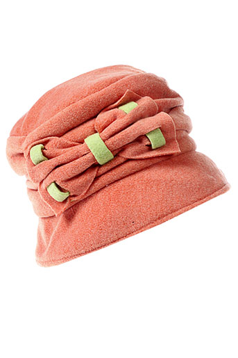 angiolo et frasconi chapeaux et bonnets femme de couleur orange