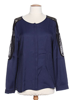 T-shirt manches longues bleu I.CODE (By IKKS) pour femme