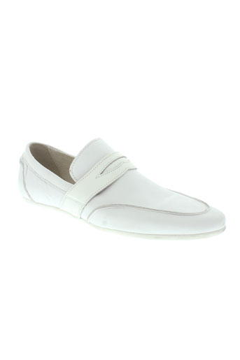 moshion mocassins homme de couleur blanc
