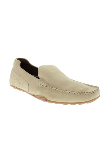 base et london mocassins homme de couleur beige