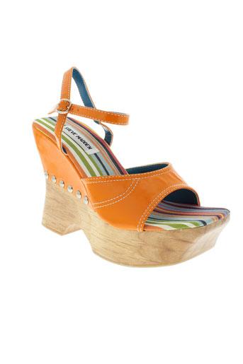 steve et madden sandales et nu et pieds femme de couleur orange