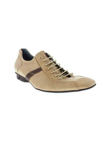 bunker chaussures homme de couleur beige