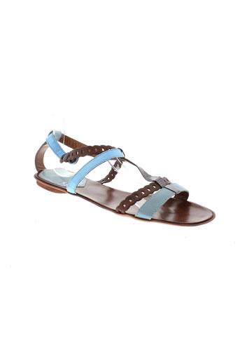 miss et sixty sandales et nu et pieds femme de couleur bleu