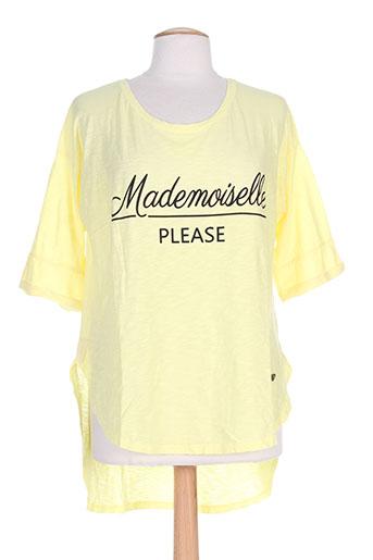 please t-shirts / tops femme de couleur jaune