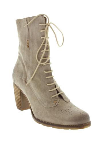 dkode boots femme de couleur beige