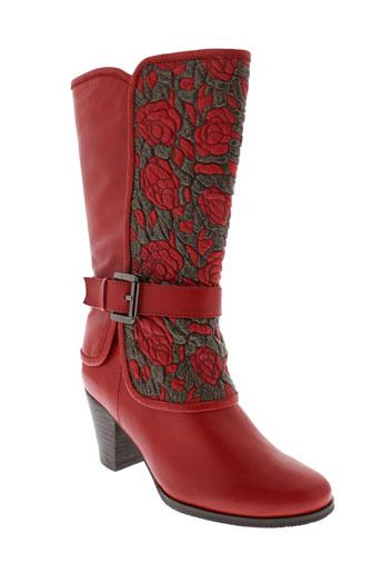 laura et vita bottes femme de couleur rouge