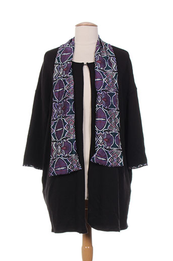 purplerose gilets femme de couleur noir
