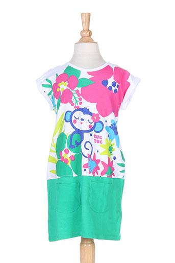 tuc tuc robes fille de couleur vert