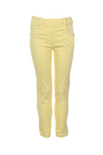 losan pantalons fille de couleur jaune