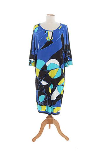 domina jersey robes femme de couleur bleu
