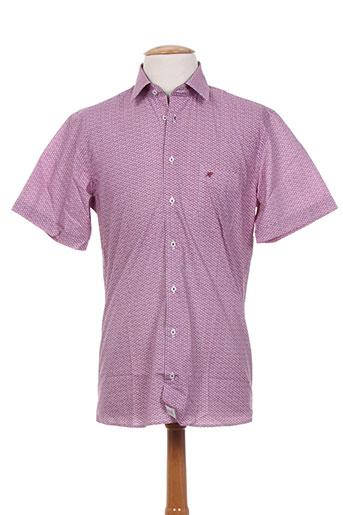 jean chatel chemises homme de couleur rose