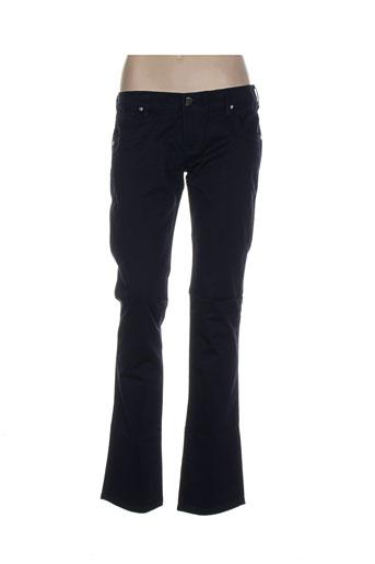 silvian heach pantalons femme de couleur bleu