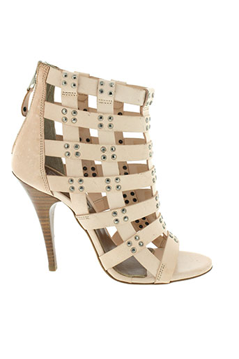 balmain chaussures femme de couleur beige