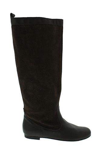pablo et delia bottes femme de couleur marron