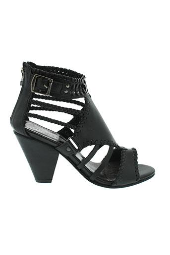 jean et louis et scherrer sandales et nu et pieds femme de couleur noir