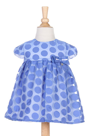 mayoral robes et mi et longues fille de couleur bleu