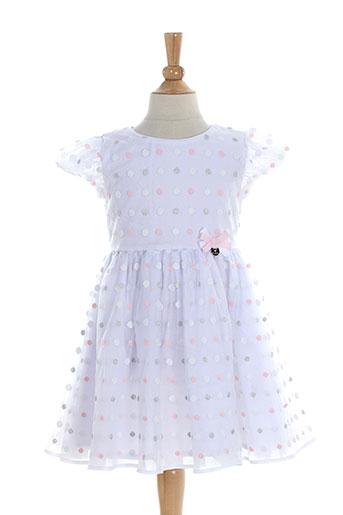 mayoral robes et mi et longues fille de couleur blanc