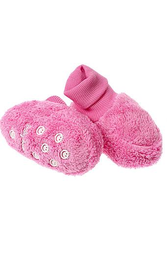 baby et boom chaussons fille de couleur rose