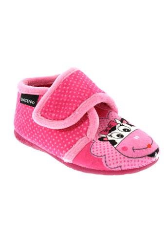 gioseppo et kids pantoufle fille de couleur rose