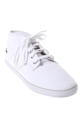 lacoste baskets homme de couleur blanc