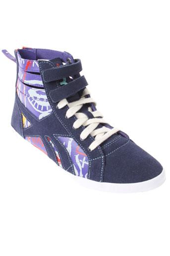 reebok chaussures femme de couleur bleu