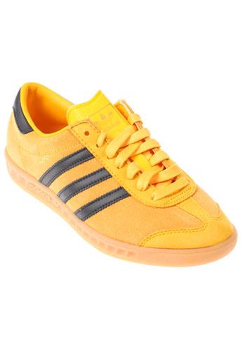 adidas baskets homme de couleur jaune