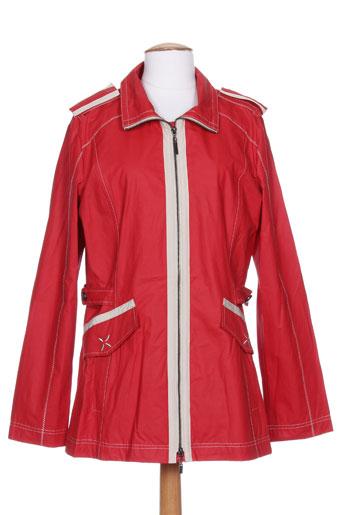 beaumont manteaux femme de couleur rouge