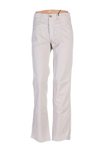 closed pantalons femme de couleur beige