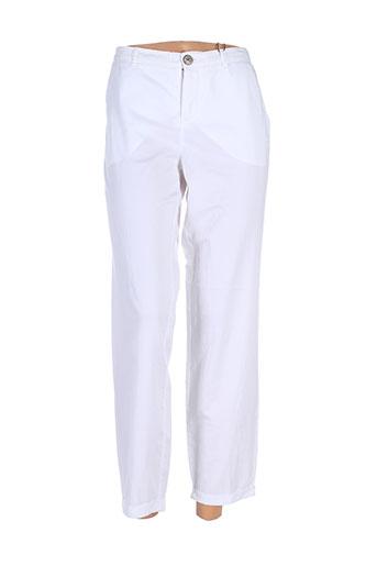 oui pantalons femme de couleur blanc