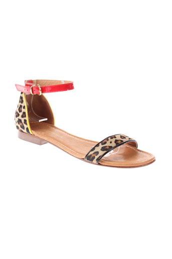 firenze sandales et nu et pieds femme de couleur marron