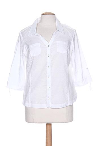 felino chemises femme de couleur blanc