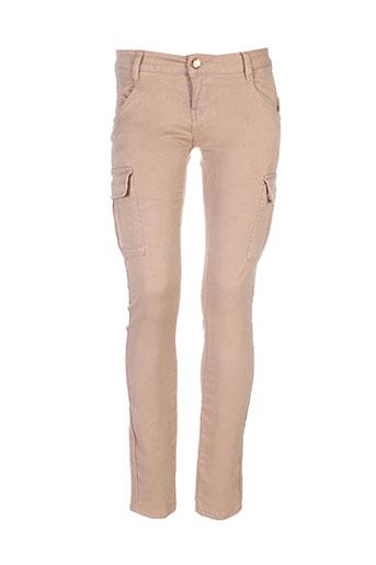 realty pantalons femme de couleur beige