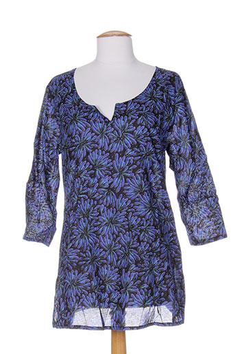 la et fiancee et du et mekong tuniques femme de couleur bleu