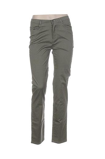 i.quing pantalons femme de couleur vert